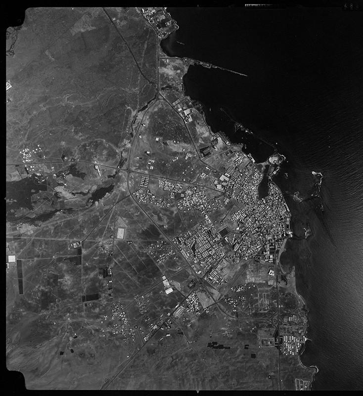 Fotografía aérea de Arrecife en 1983 I