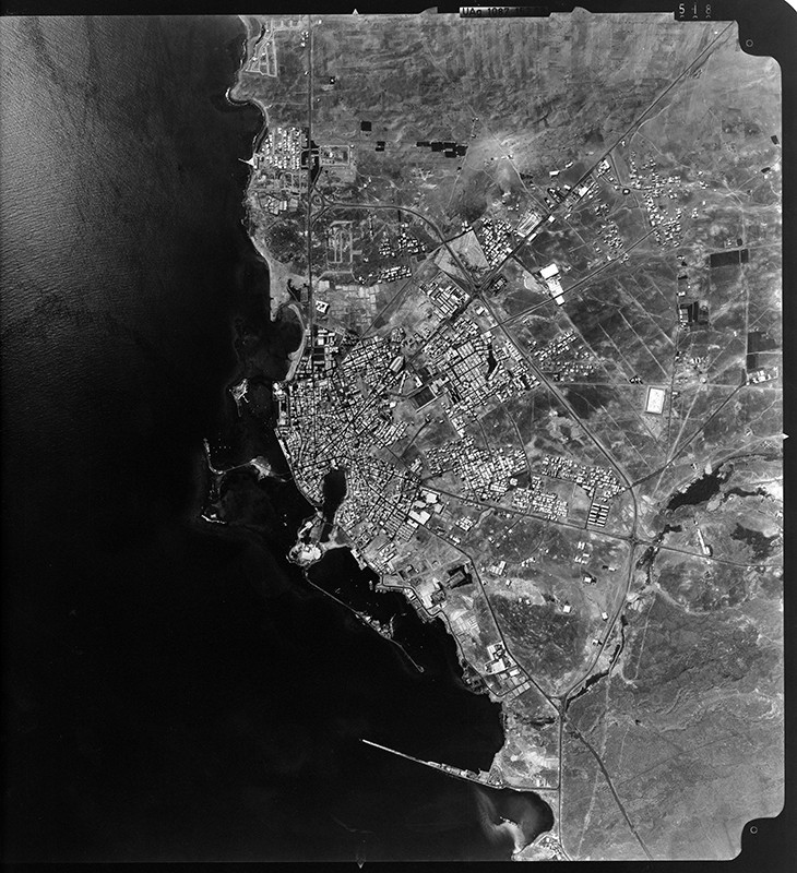 Fotografía aérea de Arrecife en 1983 II