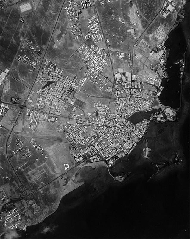 Fotografía aérea de Arrecife en 1983 III