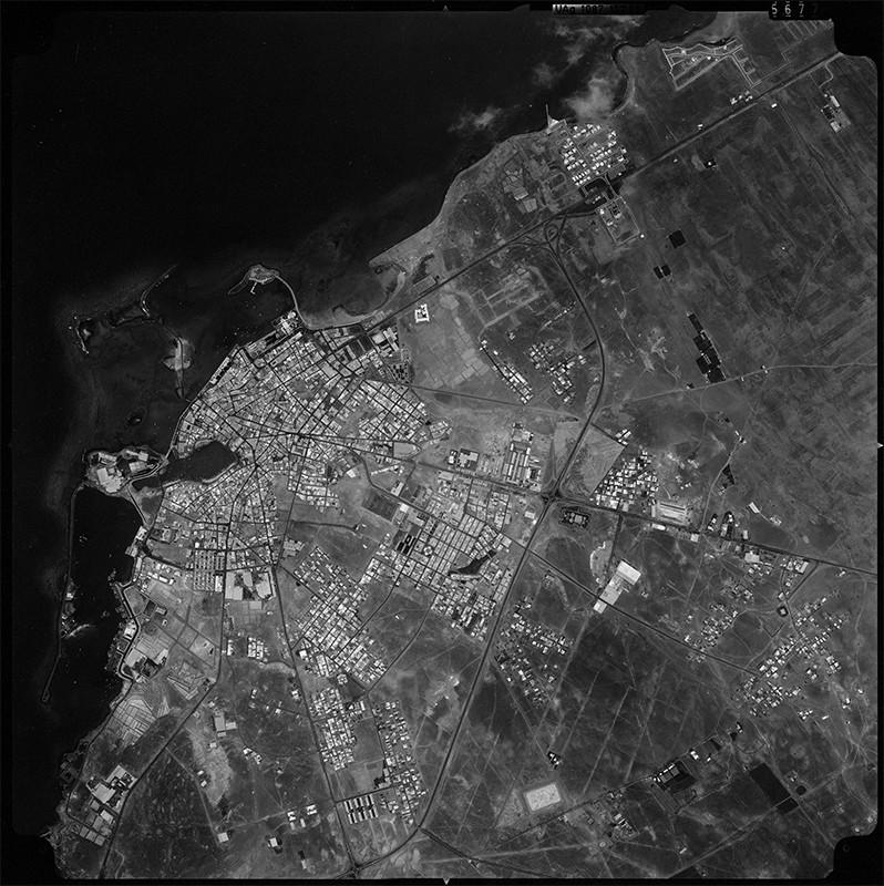 Fotografía aérea de Arrecife en 1983 IV