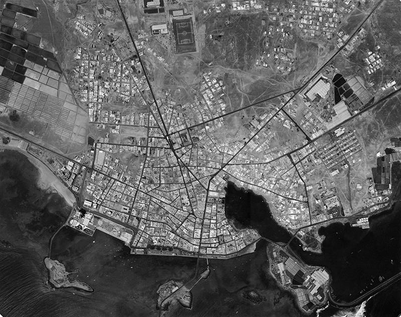 Fotografía aérea de Arrecife en 1972 I