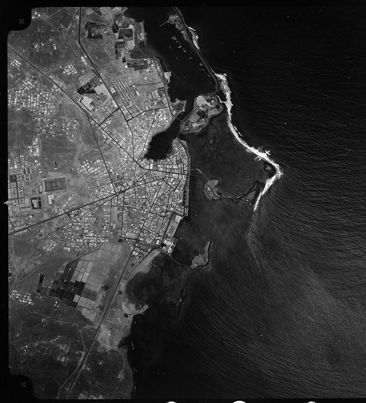 Fotografía aérea de Arrecife en 1972 II