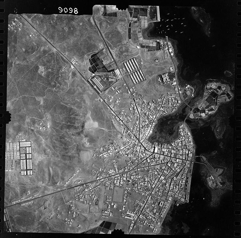 Fotografía aérea de Arrecife en 1960 I