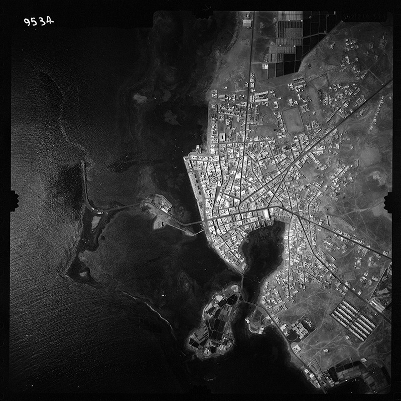 Fotografía aérea de Arrecife en 1960 II