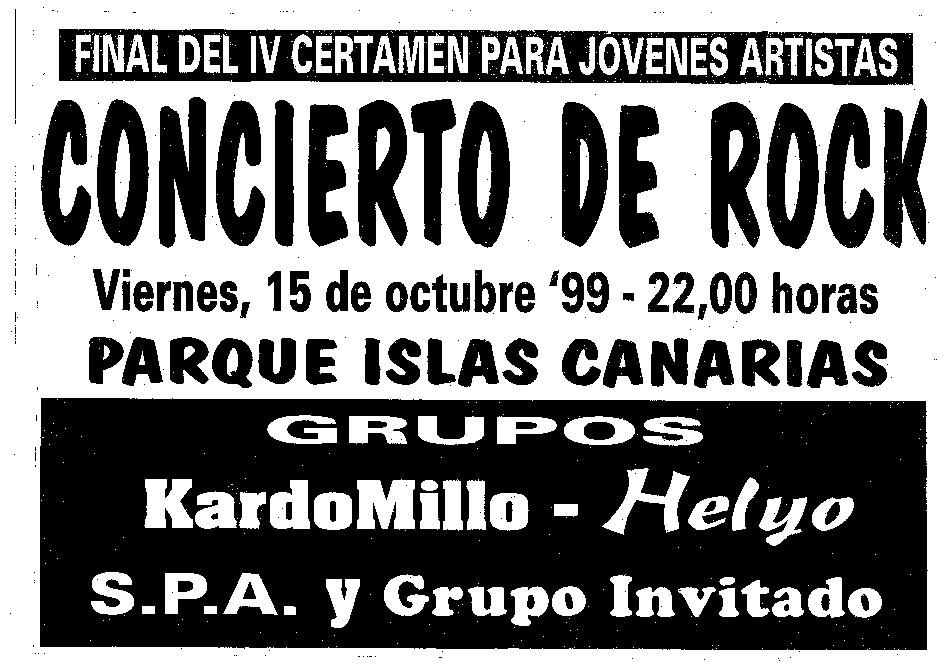 Cartel concierto 'Kardomillo' II