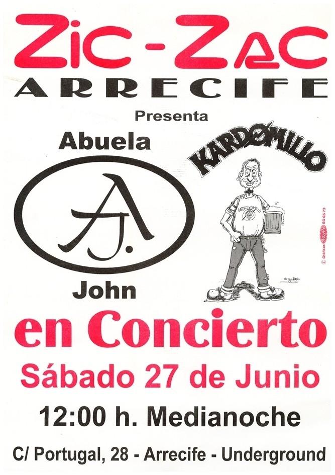 """Cartel concierto """"Kardomillo"""" III"""