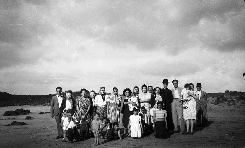 Grupo de excursión en Órzola