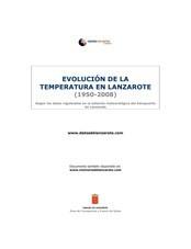 Evolución de la temperatura en Lanzarote (1950-2008)