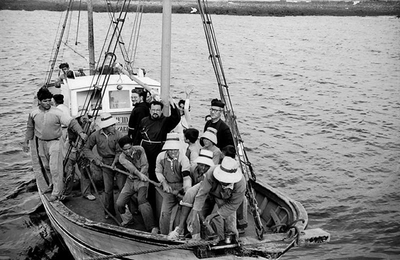 Franciscanos embarcados para La Graciosa II