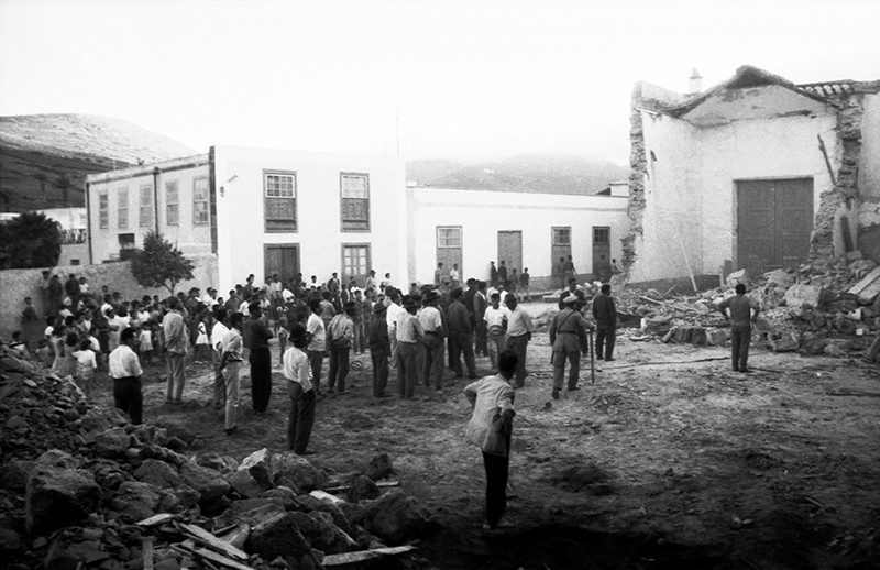 Derribo de la antigua iglesia de Haría IV
