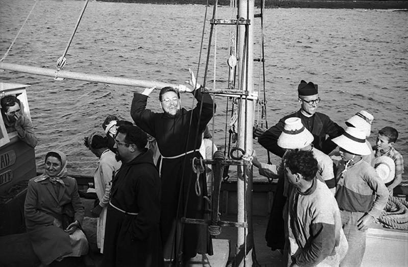 Franciscanos embarcados para La Graciosa III