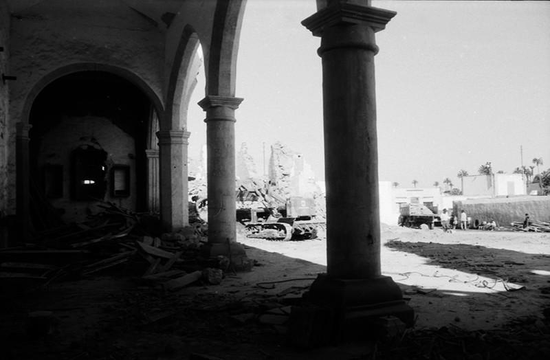 Derribo de la antigua iglesia de Haría XVI