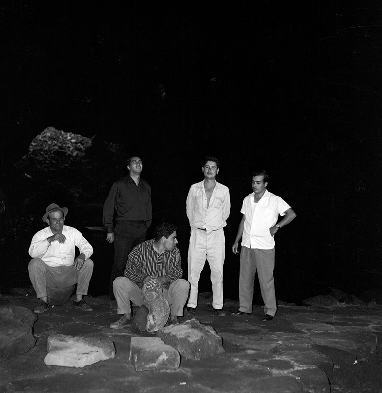 Grupo de amigos en los Jameos