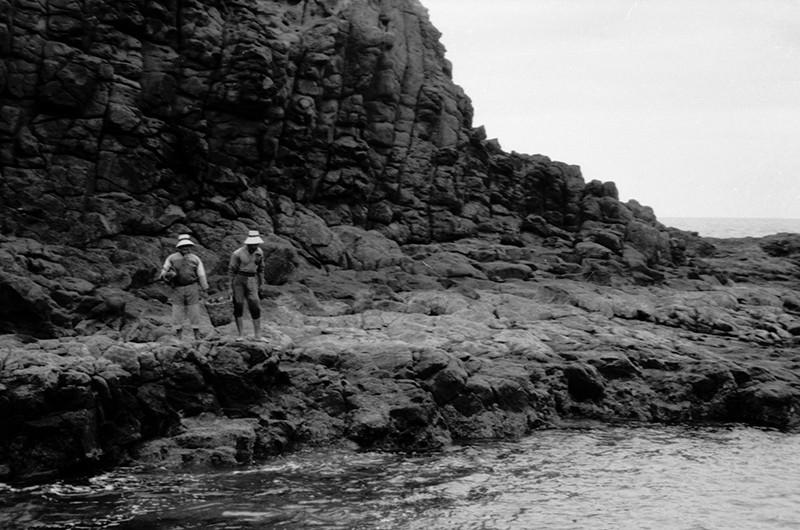 Mariscando en Punta Fariones