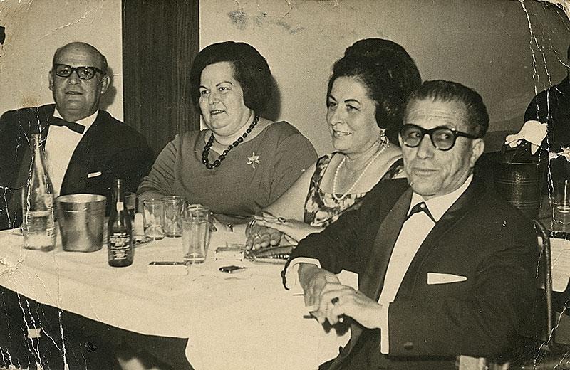 Antonio Romero y Amparo Ortega con amigos