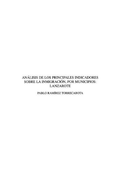 Análisis de los principales indicadores sobre la inmigración