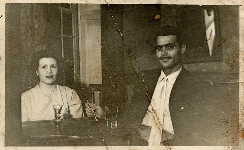 Benito Rosa y su esposa