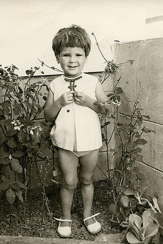 Eva Ruiz en el jardín