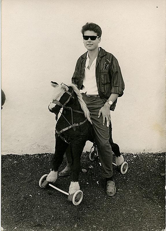 Benito Ruiz a caballo