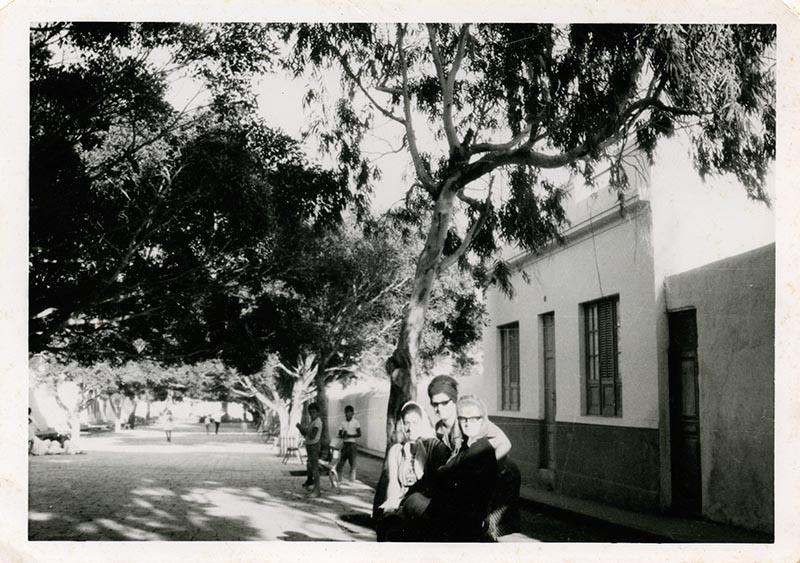 En la plaza de Haría