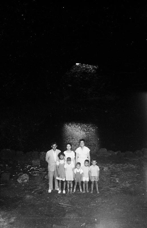 Familiares en el Jameo del Agua