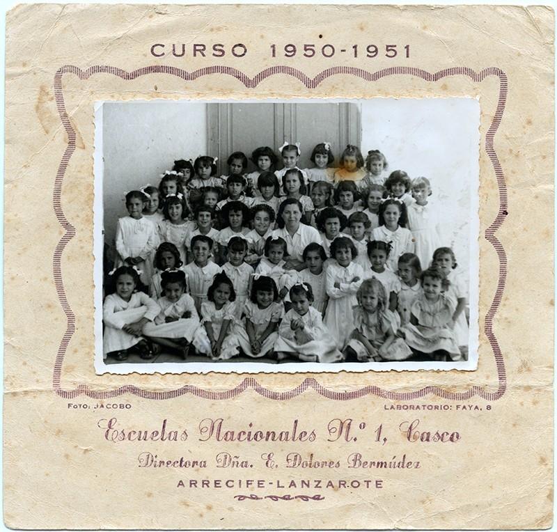 Curso 1951-52 de la escuela de doña Lola