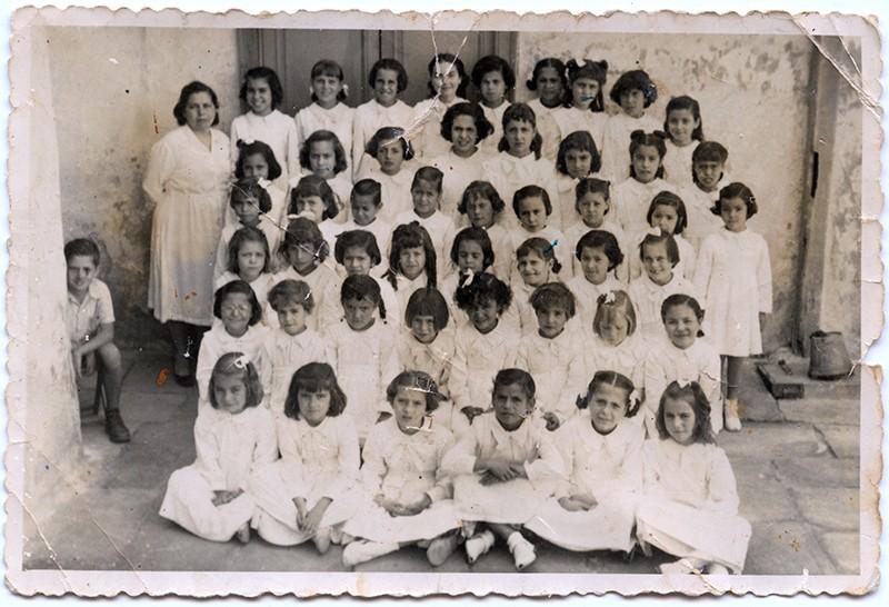 Curso 1953-54 de la escuela de doña Lola