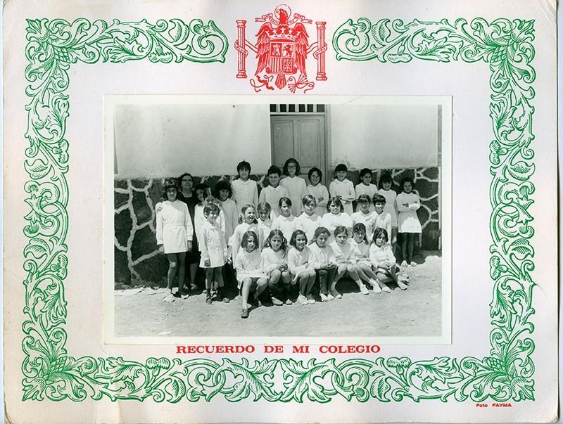 Curso de 1970-71 de la escuela de Dolores Bermúdez I
