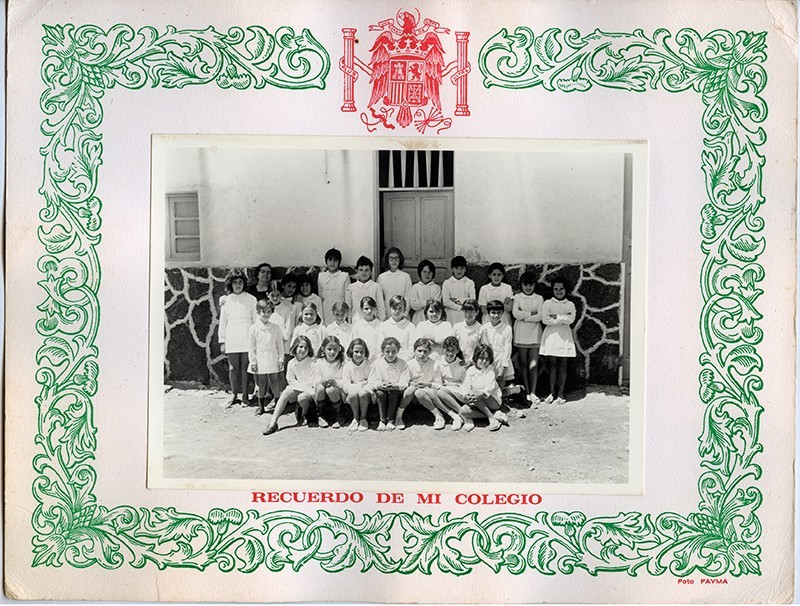 Curso de 1970-71 de la escuela de Dolores Bermúdez II