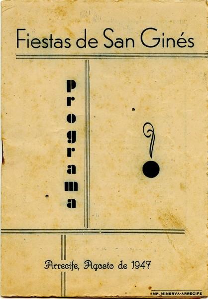 Programa de las fiestas de San Ginés de 1947