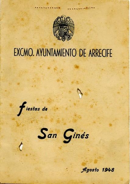 Programa de las fiestas de San Ginés de 1948