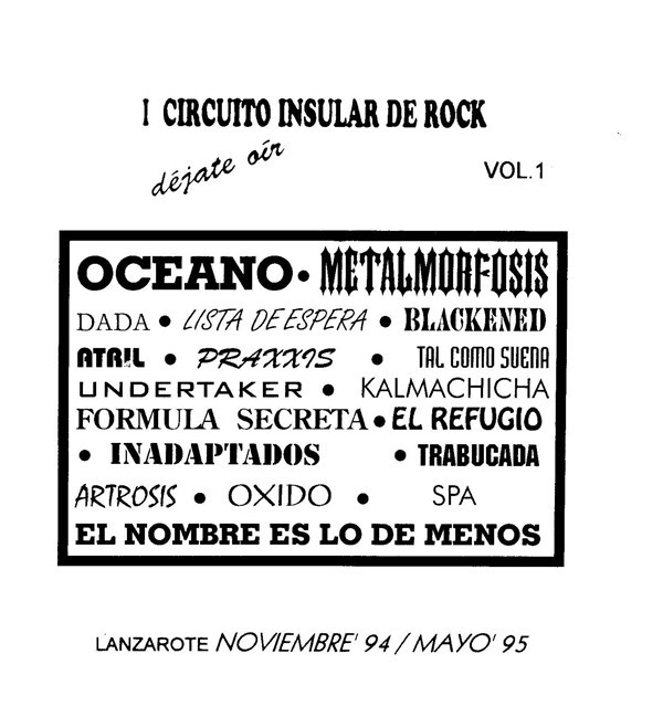 'La Taberna', canción del grupo 'Praxxis' (I Circuito Insular de Rock de Lanzarote)