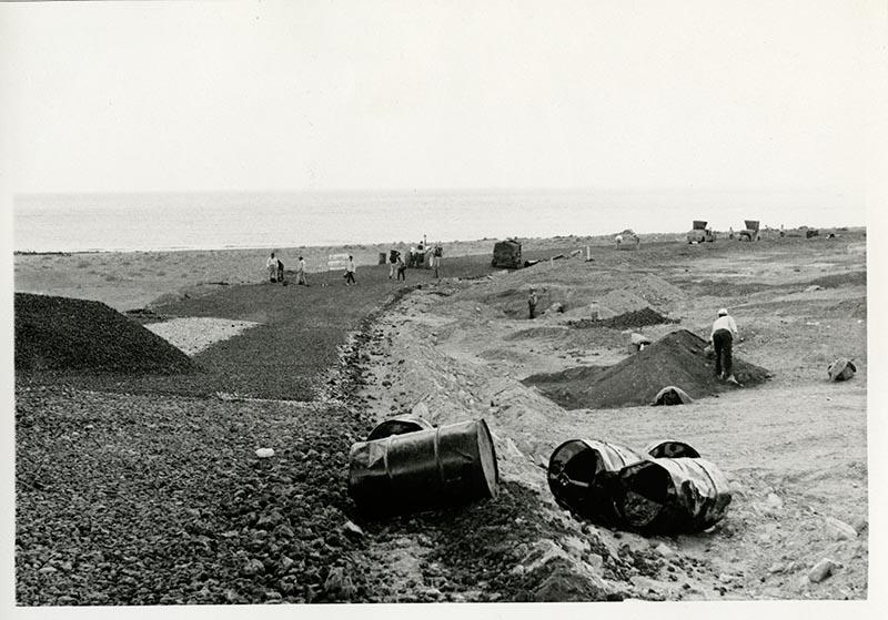 Construcción de la carretera a Puerto del Carmen III