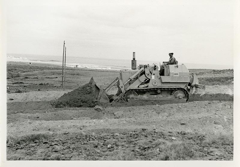 Construcción de la carretera a Puerto del Carmen VII
