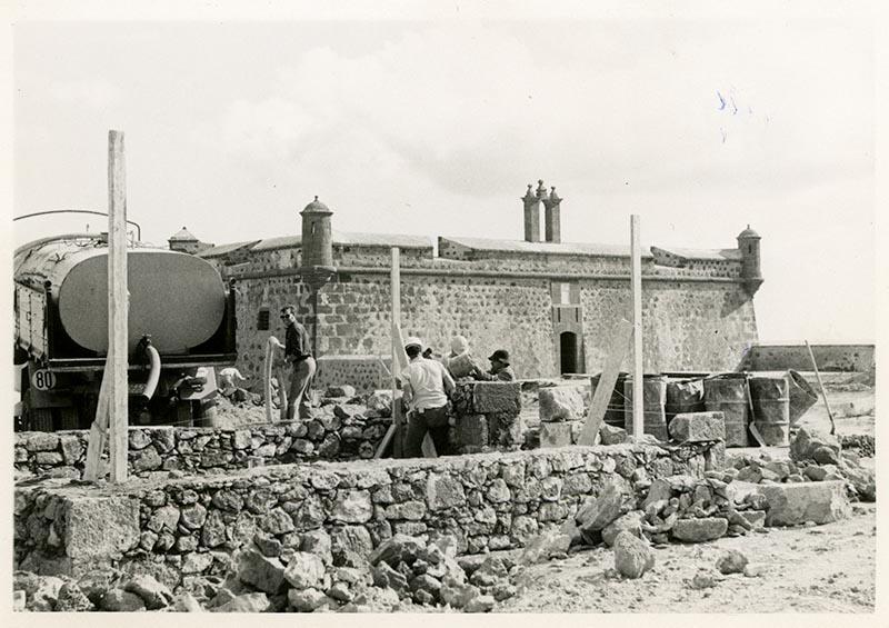 Obras de reforma del Castillo de San José-MIAC XIX