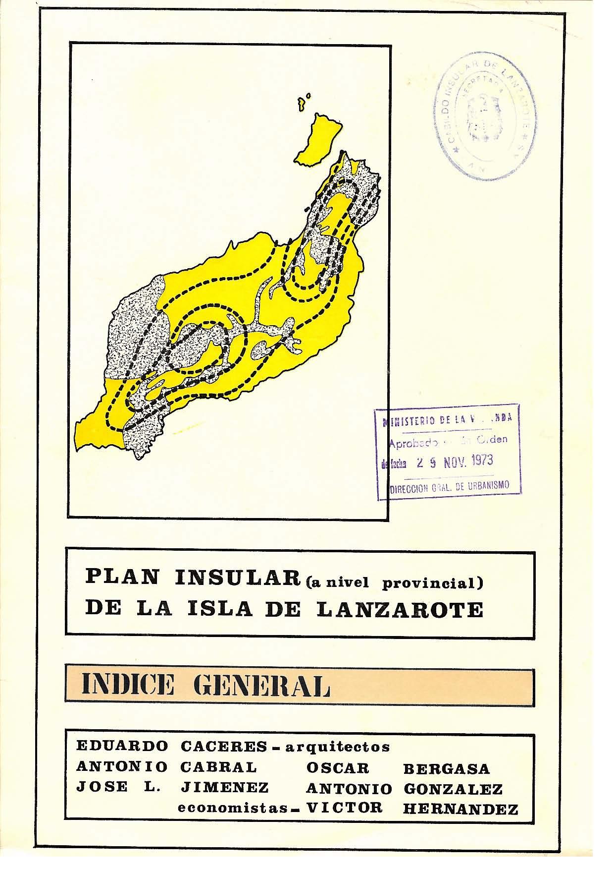 Índice General (Plan de 1973)
