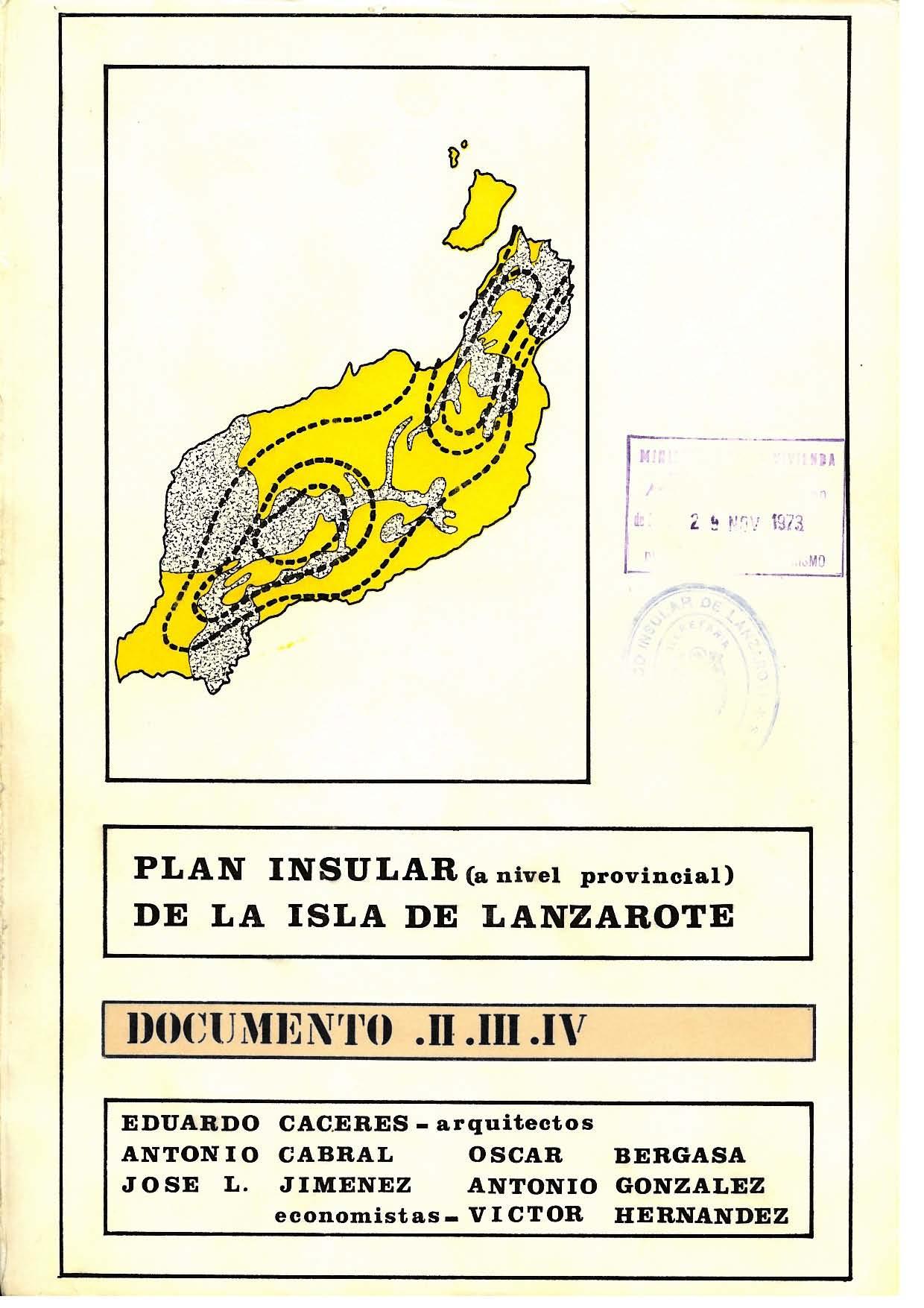 Documento III (Plan de 1973): Ordenación de la Estructura Urbana Insular