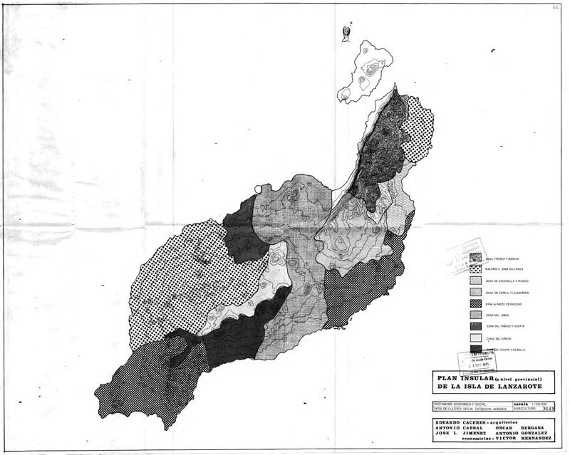 Anexo de mapas y planimetría del Plan Insular de 1973