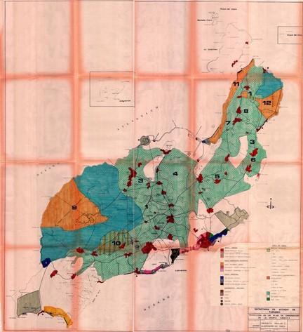 Anexo de mapas y planimetría del Plan Insular Turístico de 1982