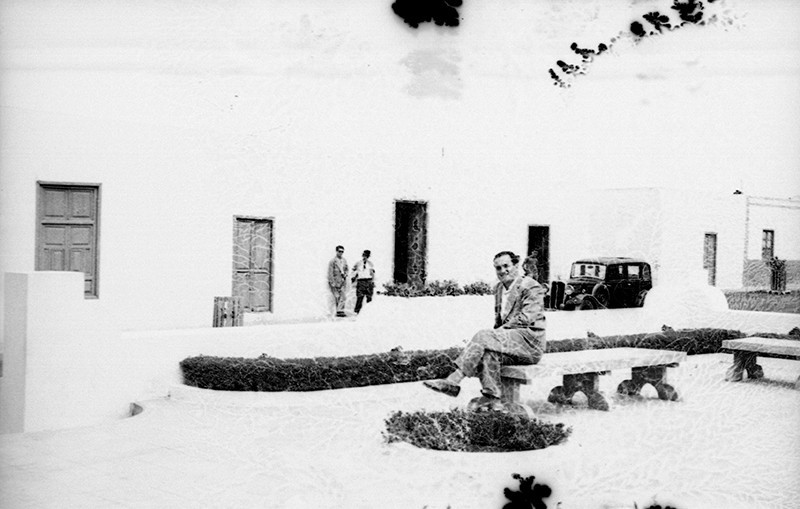Javier Reyes en la plaza de Yaiza