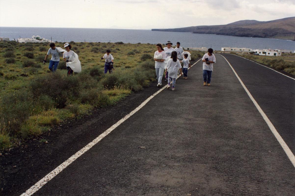 Campaña de limpieza en Playa Quemada