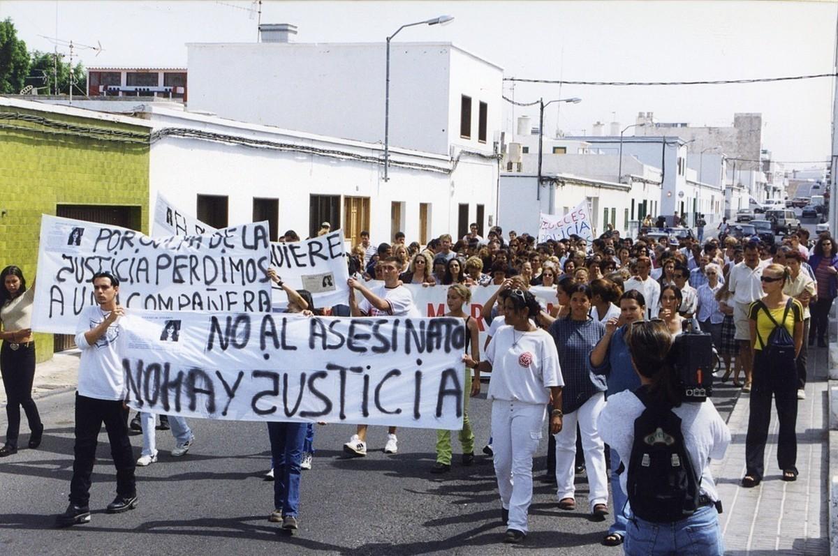 Manifestación por la muerte de Fuencisla I