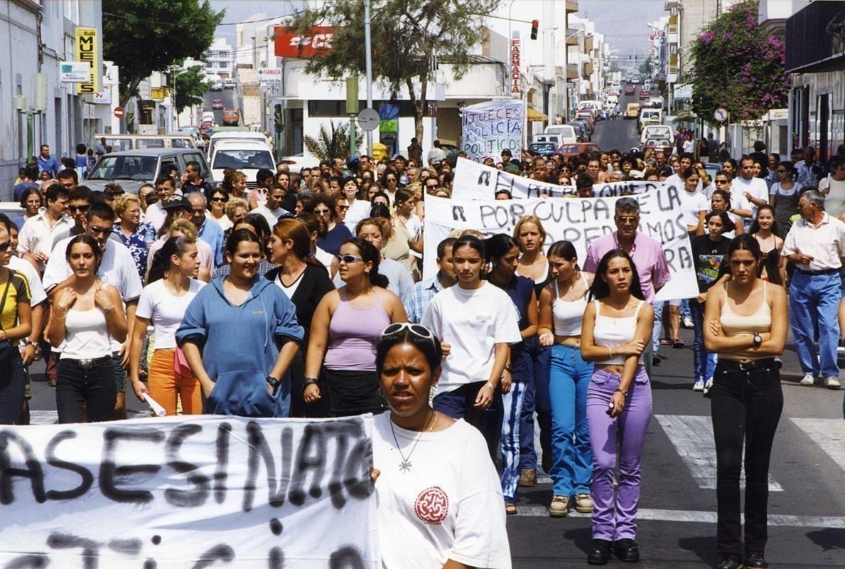 Manifestación por la muerte de Fuencisla II