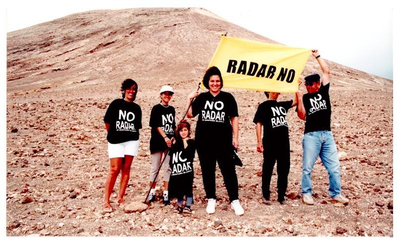 Protestas contra el radar de Montaña Blanca V