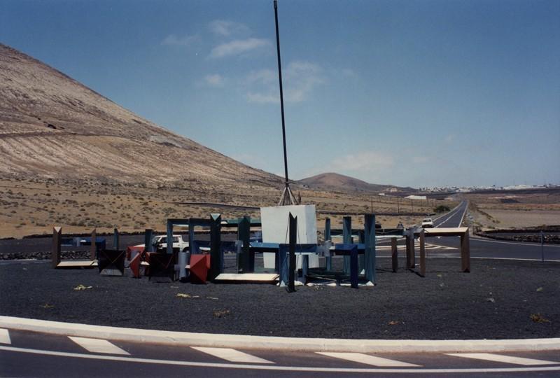 Montaje del 'Juguete del viento' de Montaña Blanca