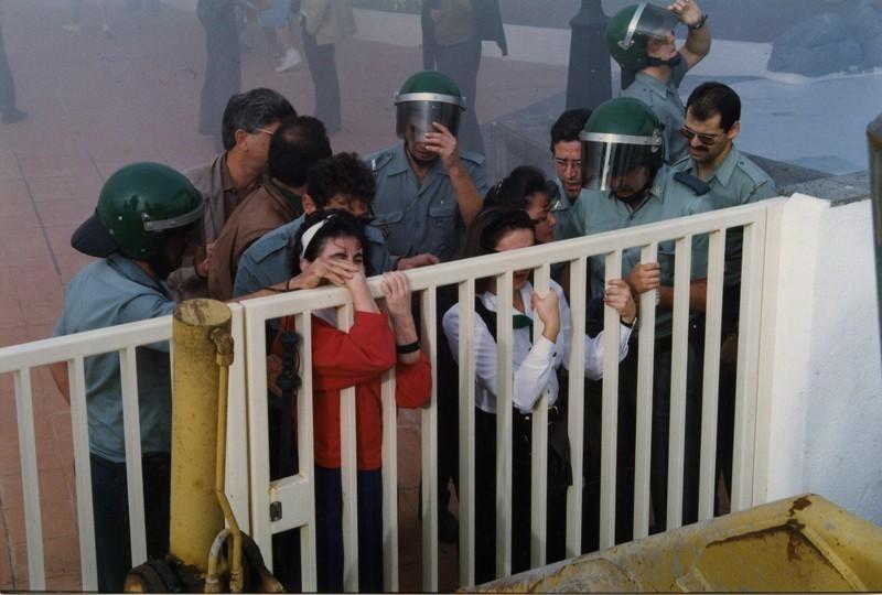 Manifestación en el Apartahotel Fariones IV