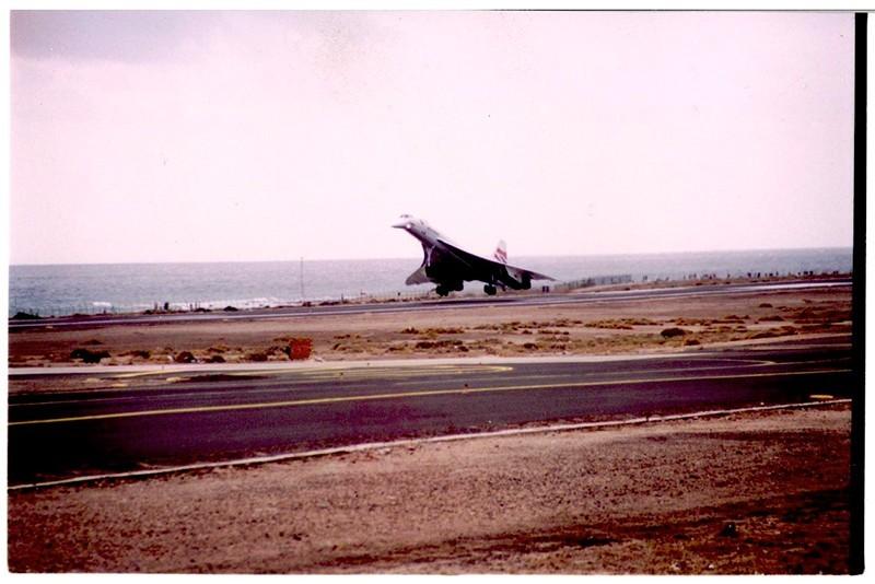 Aterrizaje del Concorde