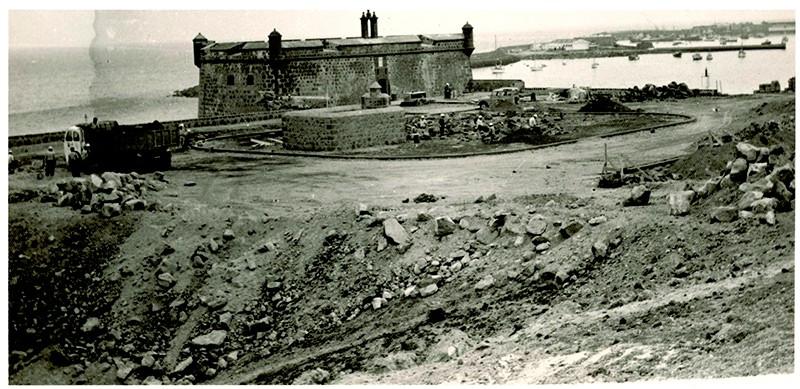 Obras en el Castillo de San José
