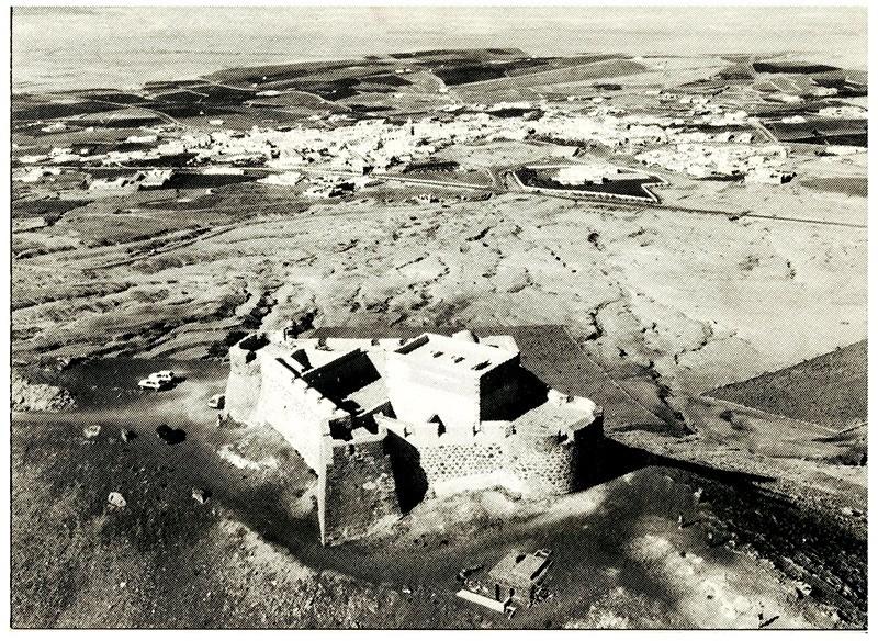 Foto aérea del Castillo de Santa Bárbara