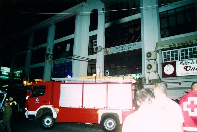 Incendio de la inmobiliaria Susaeta